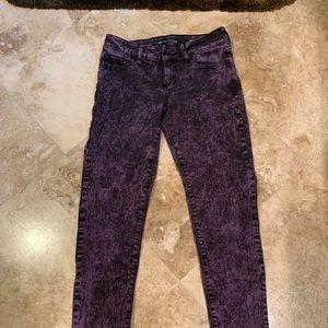 Lovesick purple n black jeans - skinny.